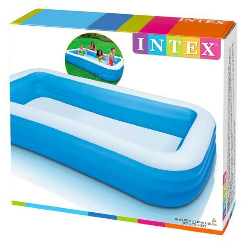 Caja de la piscina hinchable Intex Azul