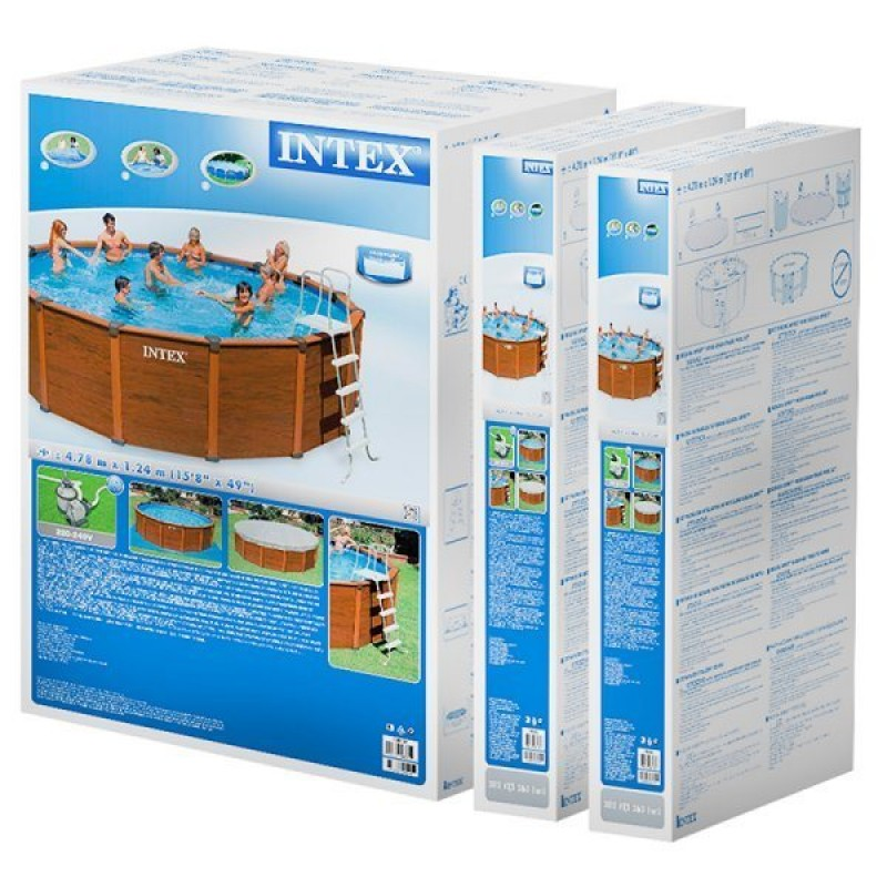 Caja de la piscina Sequoia de Intex