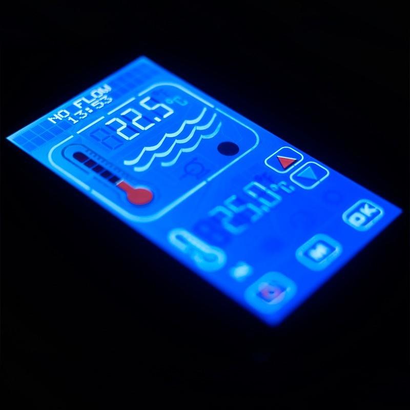 Calentador eléctrico piscina Elecro Optima Compact pantalla táctil