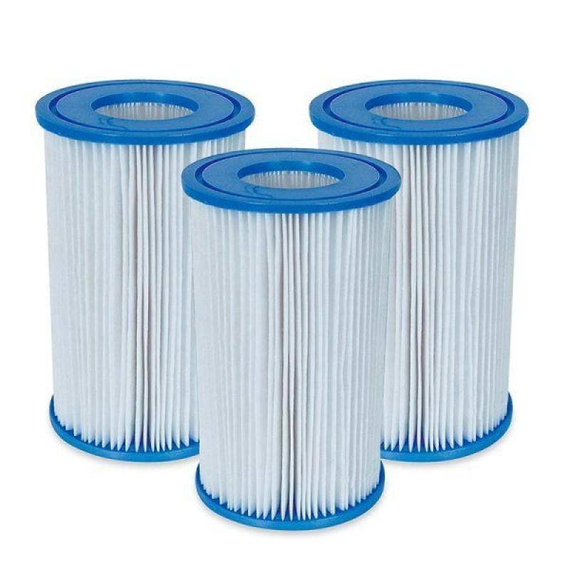 Pack 3 cartuchos filtros a intex outlet piscinas for Filtro para piscina intex