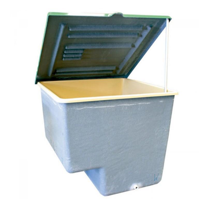 Caseta enterrada con filtro laminado de PQS tapa