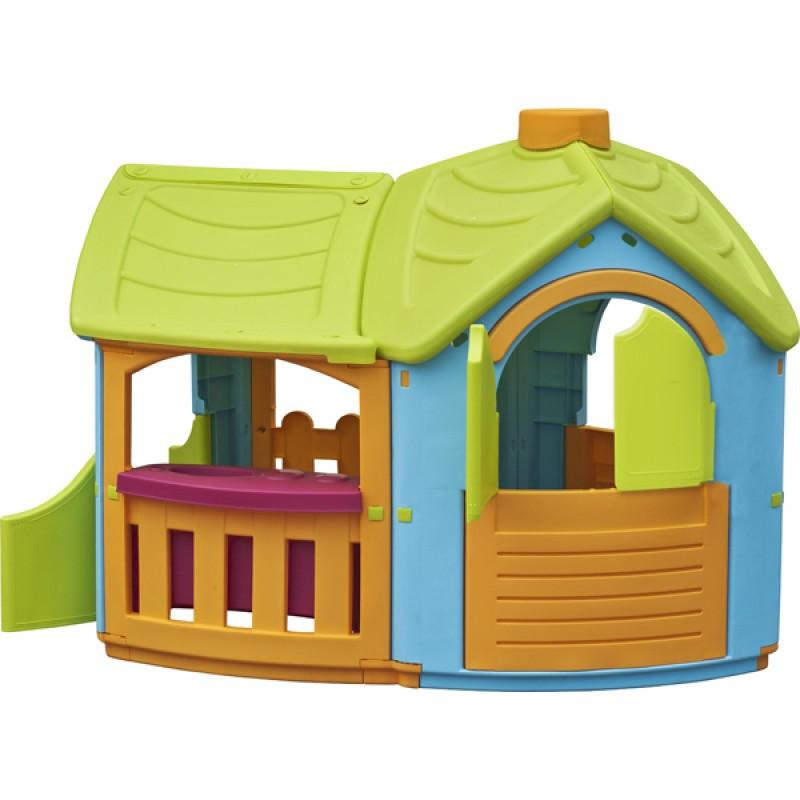 Casa para niños Gran Villa con extensión 165 x 102 x 126 cm
