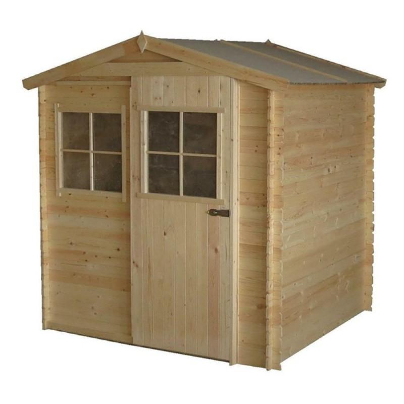 Cobertizo de madera 180 x 200 x 218 outlet piscinas for Casetas para guardar lena