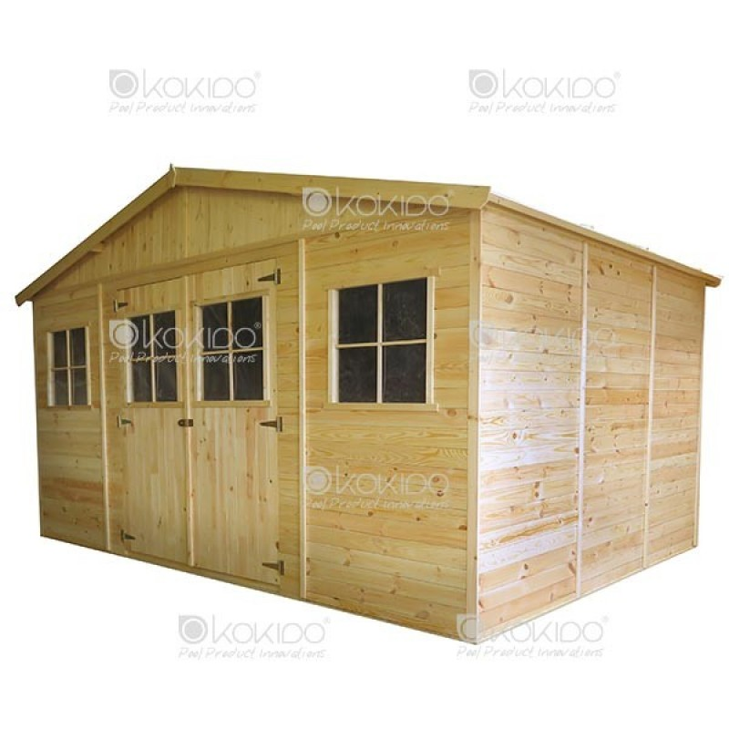 Cobertizo de madera 4 x 3 x m outlet piscinas for Cobertizos de madera precios