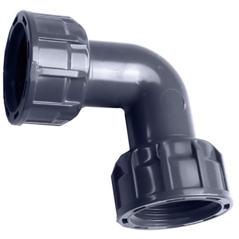 Codo 90º H/H para colectores PVC
