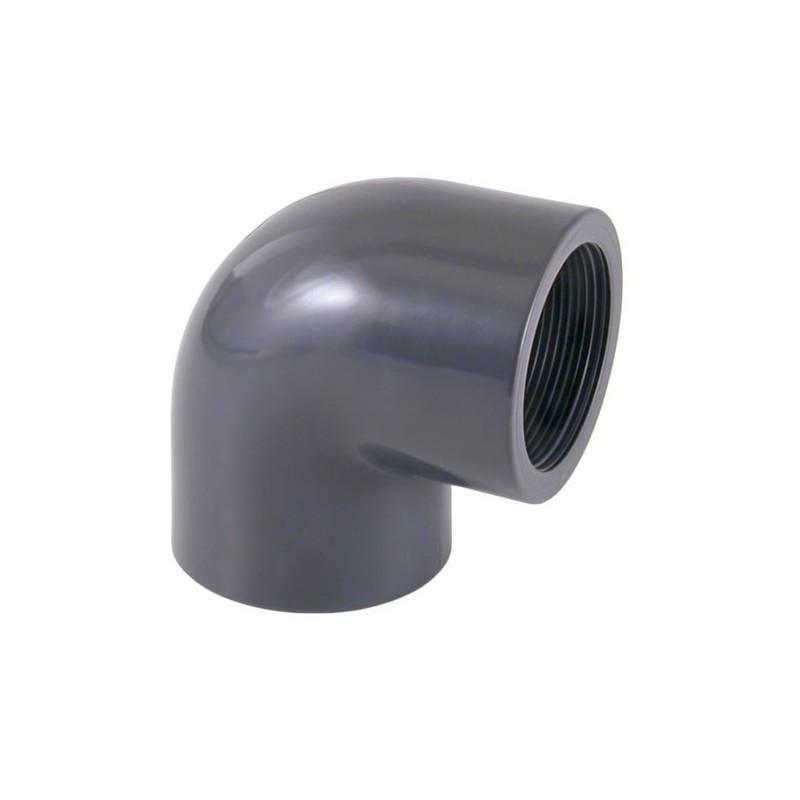 Codo de rosca de 90º PVC