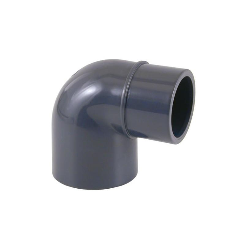 Codo de reducción de 90º PVC