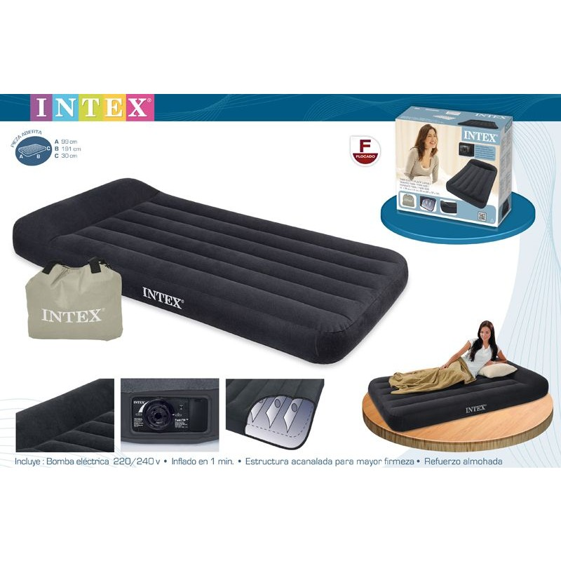 Conjunto Colchón Pillow Rest Intex 99x191x23cm
