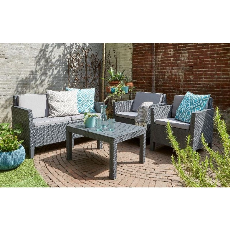 Muebles de jard n chicago lounge set outlet piscinas for Outlet muebles jardin