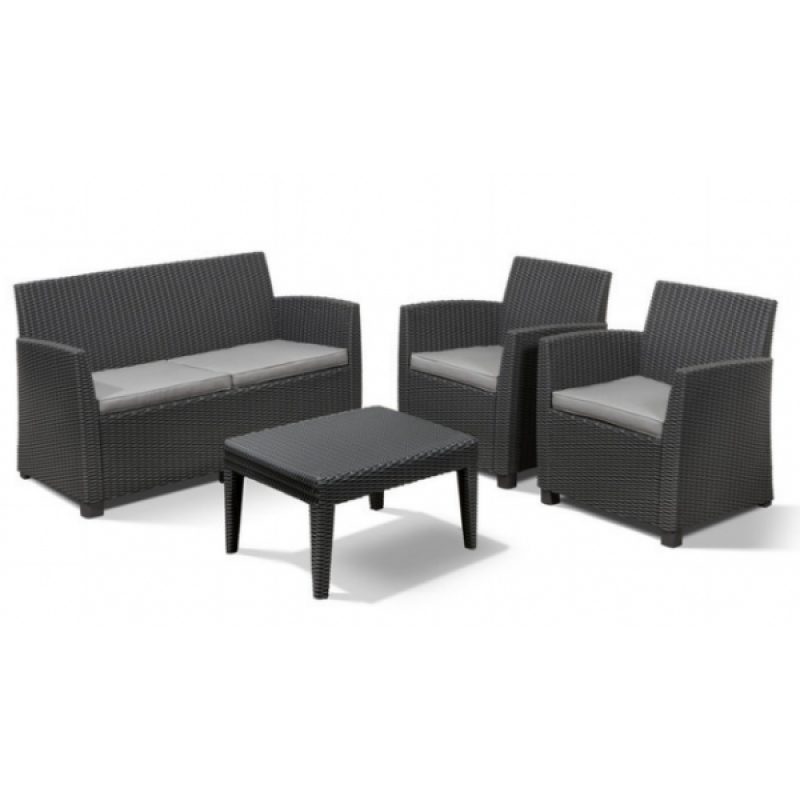 Muebles de jard n lounge set corona outlet piscinas for Muebles terraza outlet