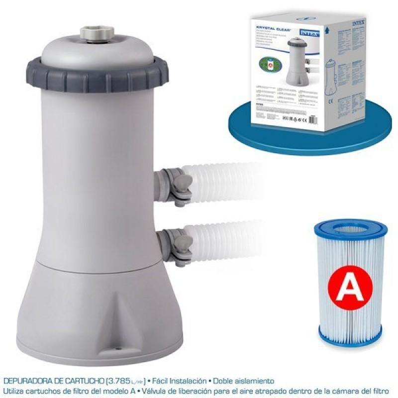 Depuradora de 3.785 l/h con filtros tipo A