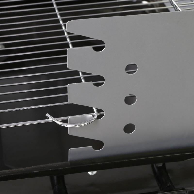 Detalle Barbacoa Rectangular Carbón Acero