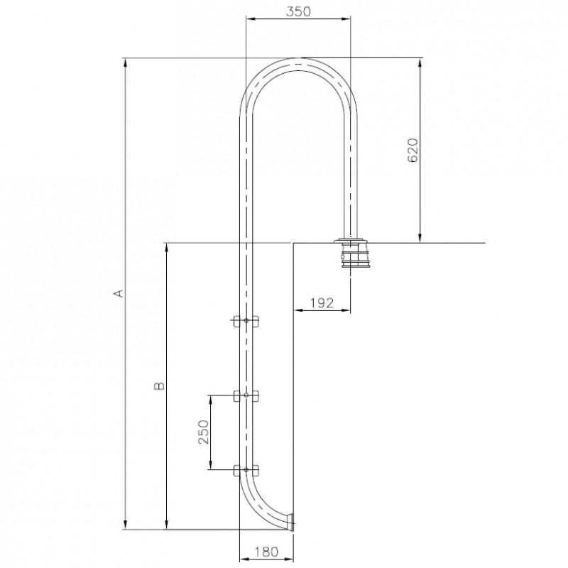 Dimensiones escalera muro piscina