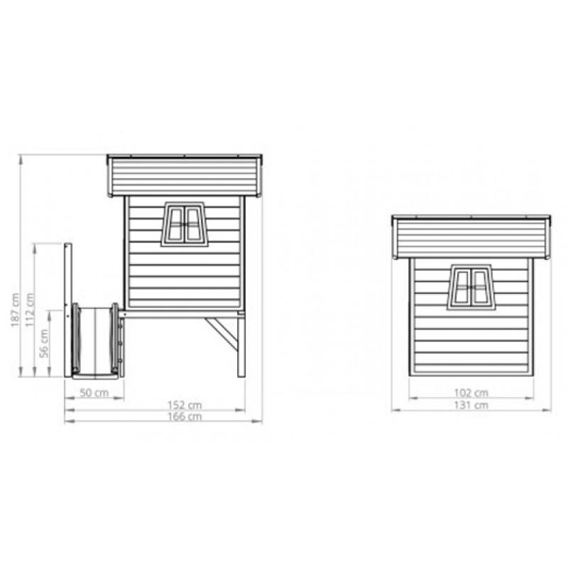 Dimensiones casita Beach 300