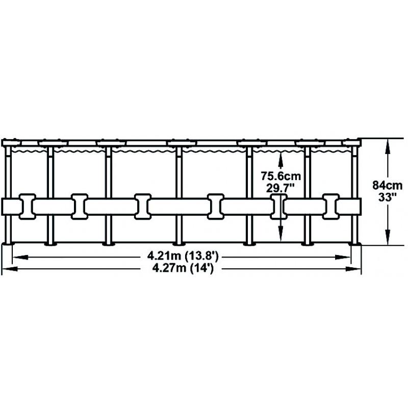 Dimensiones Piscina Steel Pro Ø427x84cm