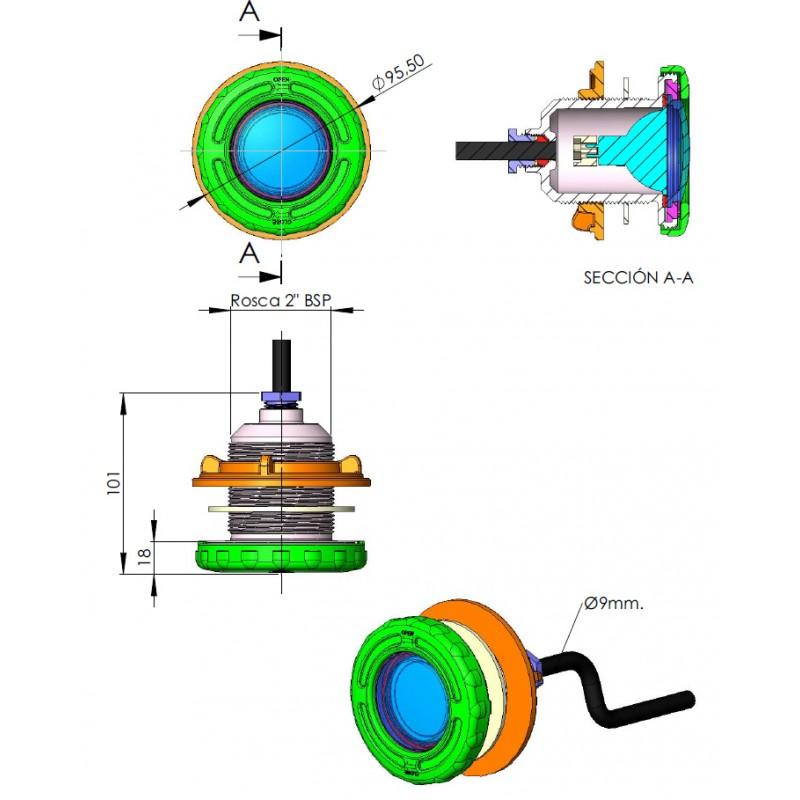 Dimensiones Proyector Mini halógeno piscina prefabricada