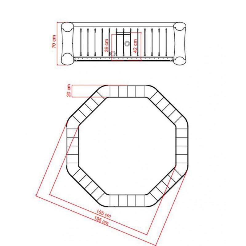Dimensiones del Spa hinchable Rover