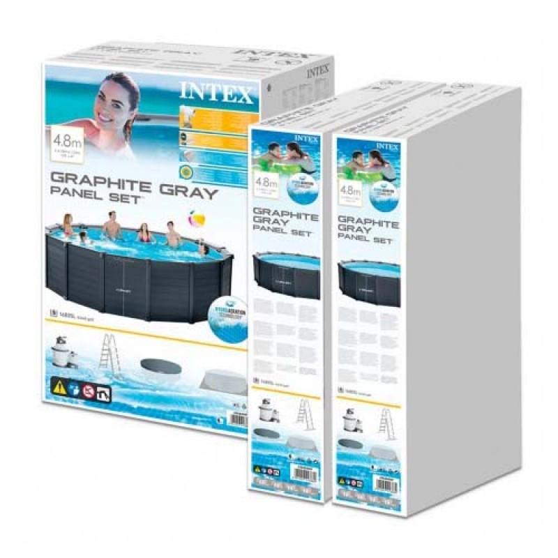 Embalaje de la piscina Graphite Grey Panel