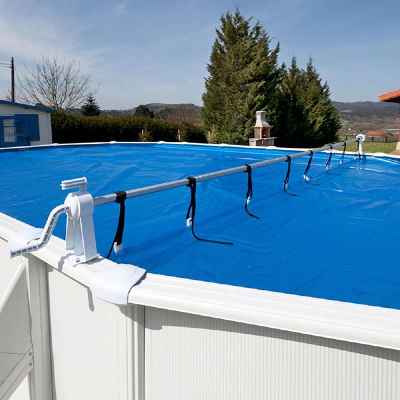 Enrollador para piscinas elevadas