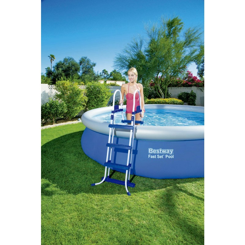 escalera para piscina bestway 107 cm outlet piscinas
