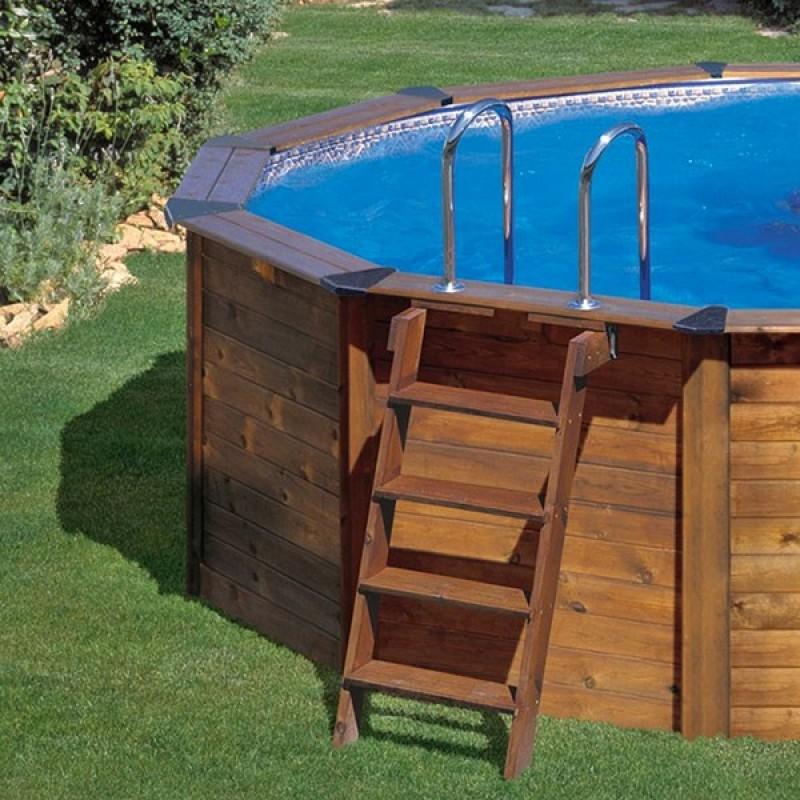 Piscina gre madera island ovalada outlet piscinas - Madera para piscinas ...