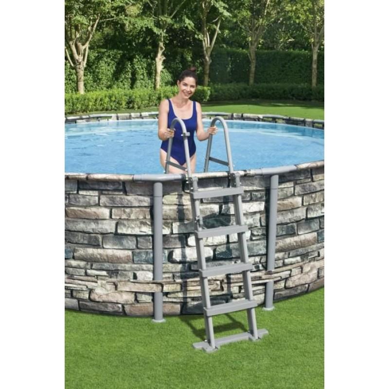 Escalera de seguridad para piscinas tubulares