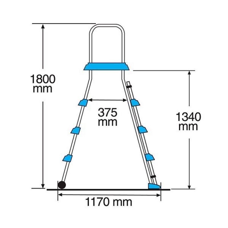 Escalera Seguridad BXL con Plataforma - Medidas