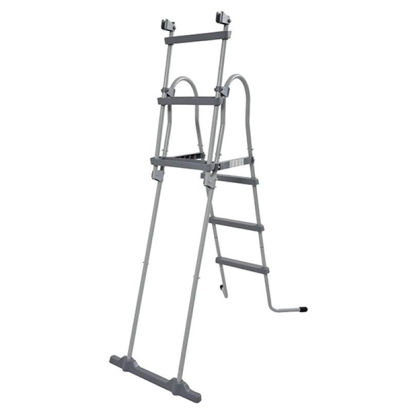 Escalera de tijera de seguridad jilong para piscinas elevadas