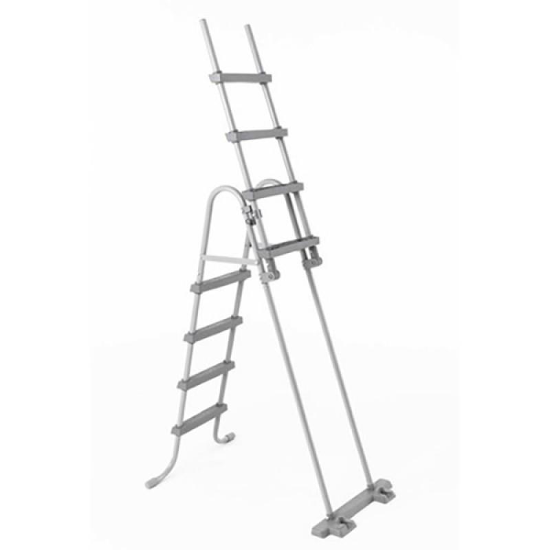 Escalera seguridad con peldaños deslizantes