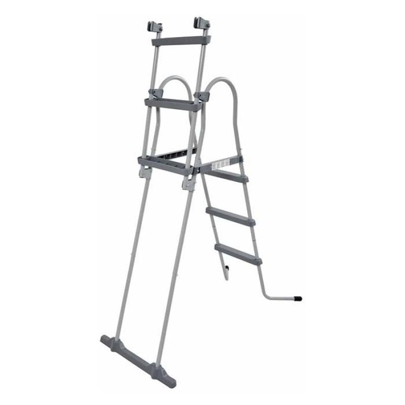 Escalera de seguridad con peldaños extraíbles