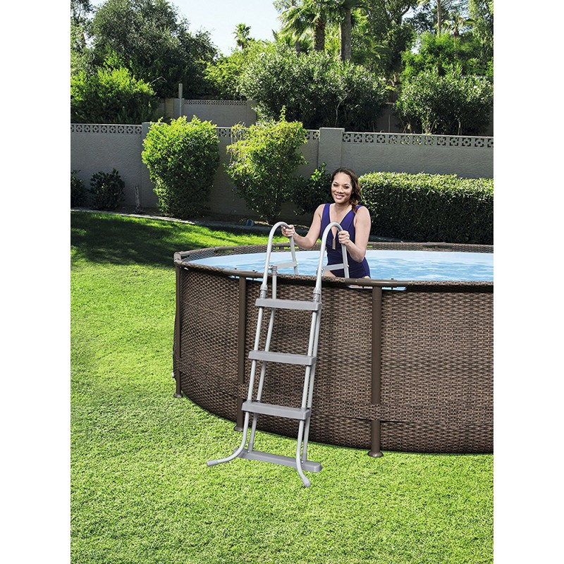 Piscina Power Steel Rattan skimmer cartucho