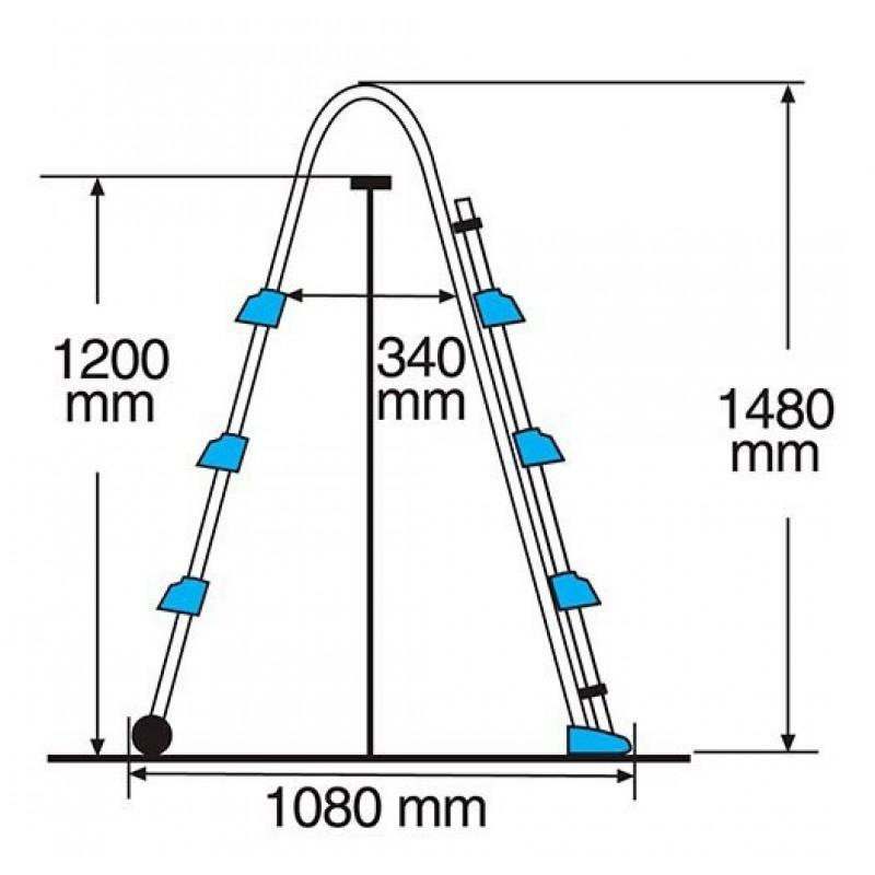 Medidas Escalera seguridad Tijera