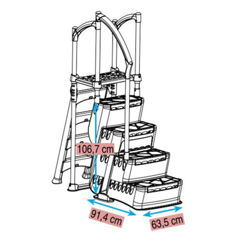 Escalera Biltmore dimensiones