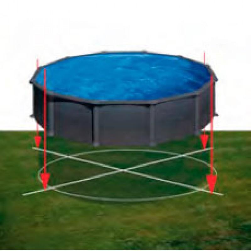 Espacio piscina Gre Granada Imitación grafito circular