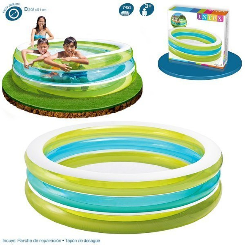 piscina hinchable transparente intex outlet piscinas