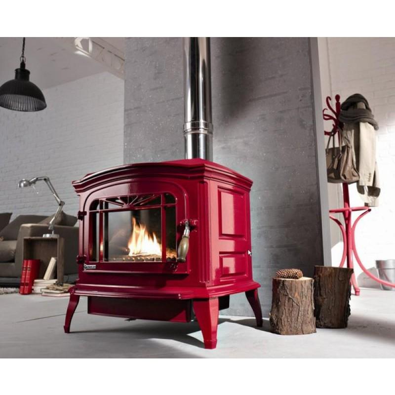 Estufa de Leña Bradford Invicta - Rojo - 2