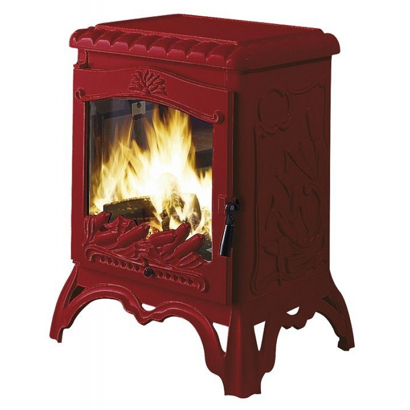 Estufa de Leña Chambord Invicta - Rojo