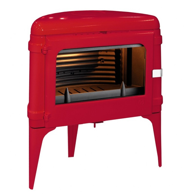 Estufa de Leña Luna Invicta - Rojo-1