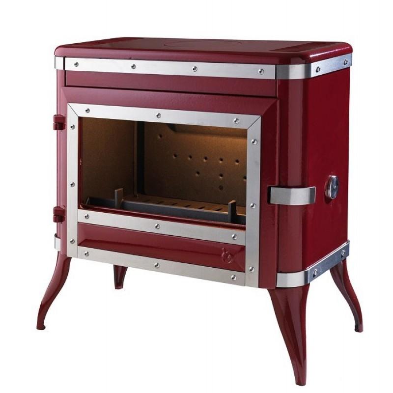 Estufa de Leña Tennessee Invicta - Roja
