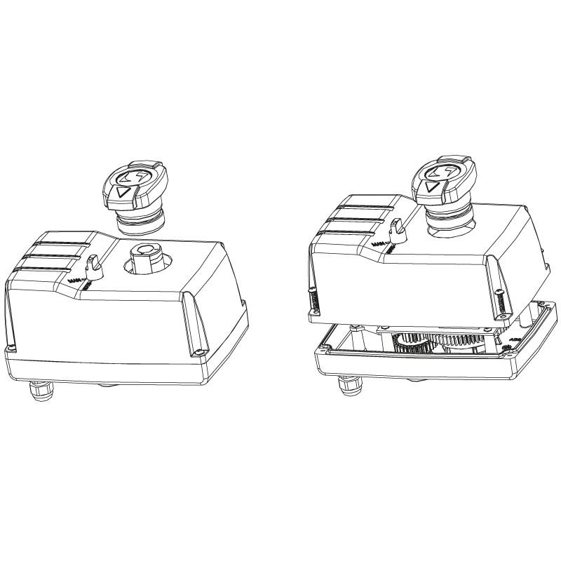 Quitar maneta válvula distribuidora de 3 vías PVC automático