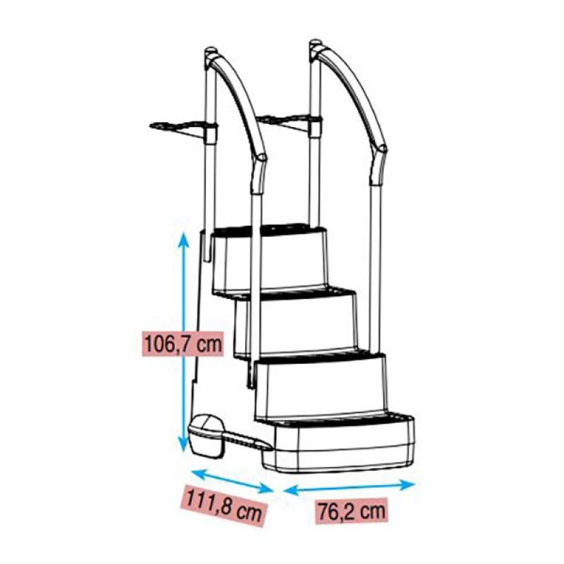 Escalera Fiesta dimensiones