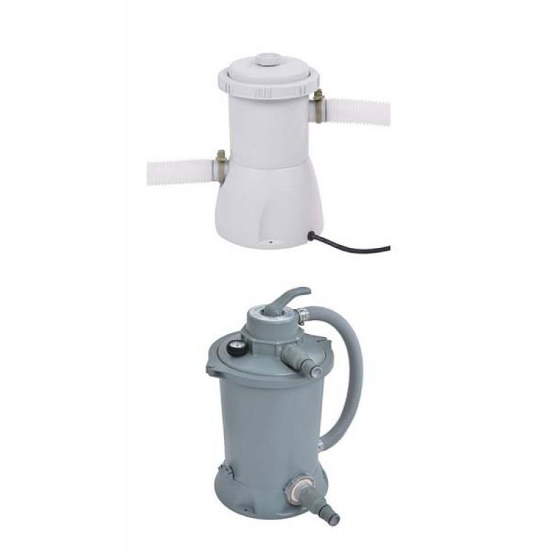 Posibilidad de elegir entre filtro de cartucho o filtro de arena