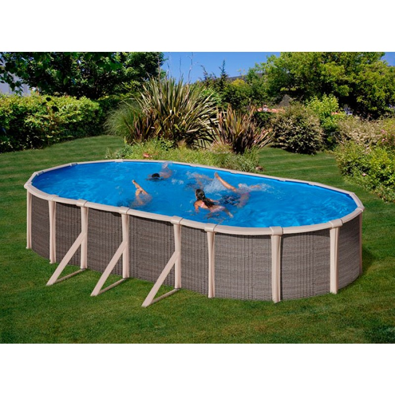 Exterior Piscina híbrida Fusion Pool ovalada Gre