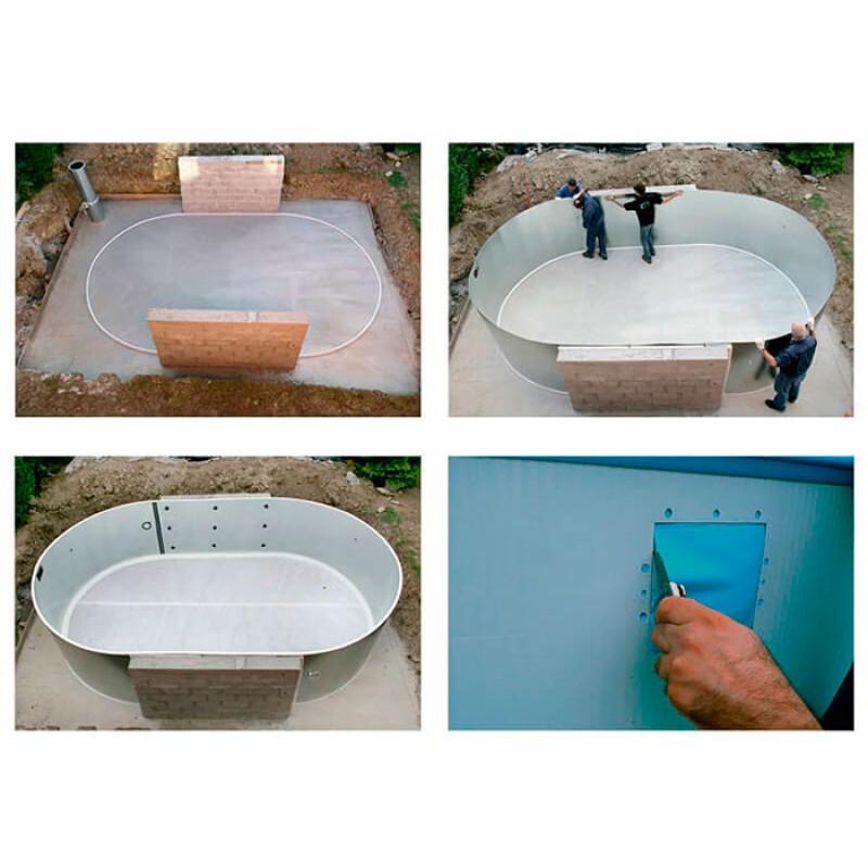 Instalación Piscina enterrada Moorea circular Gre
