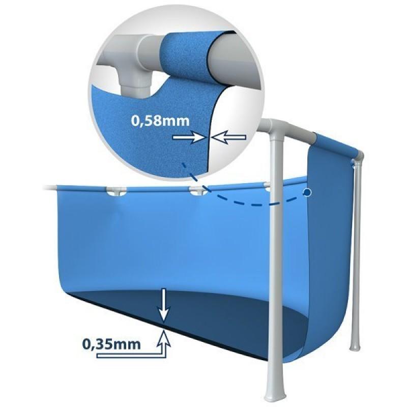 Grosor y resistencia de la piscina Metal Frame de Intex