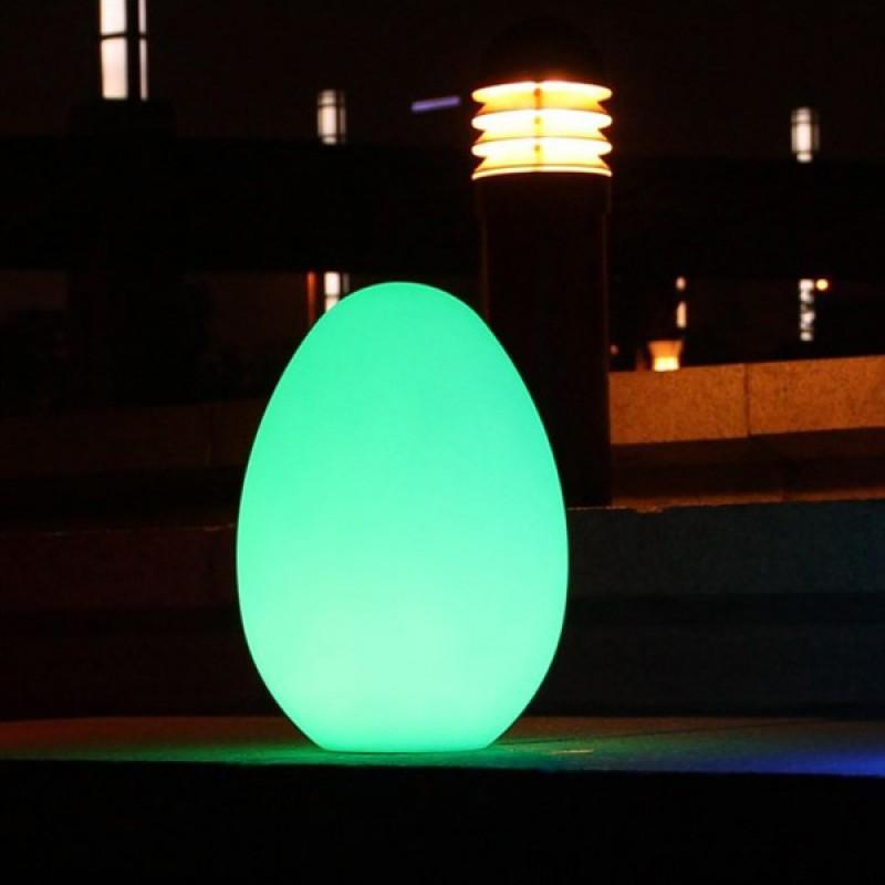 Huevo luminoso Lámpara LED verde