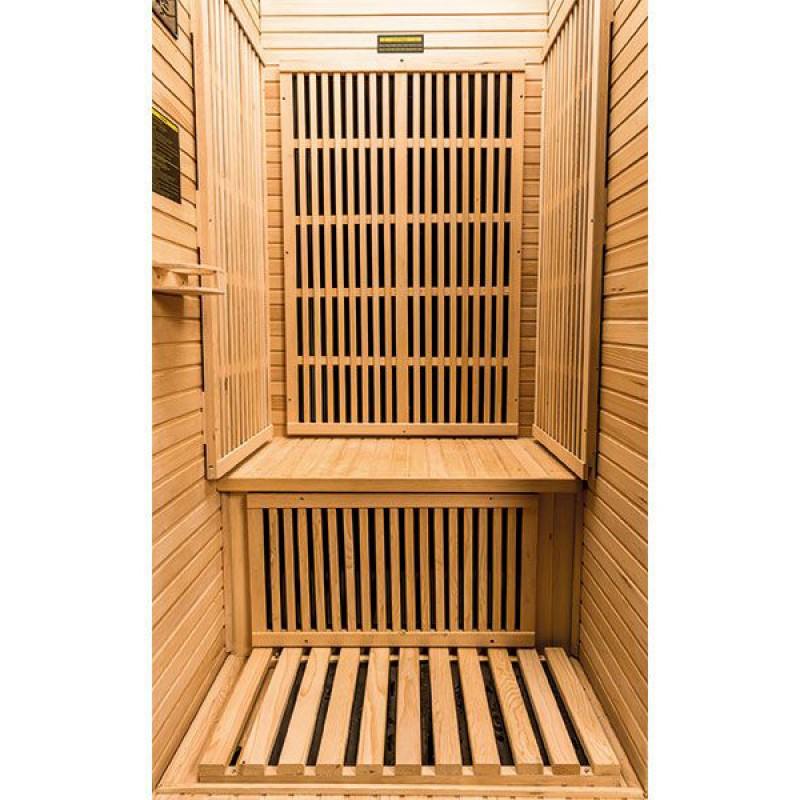 Interior Sauna infrarrojos Ruby