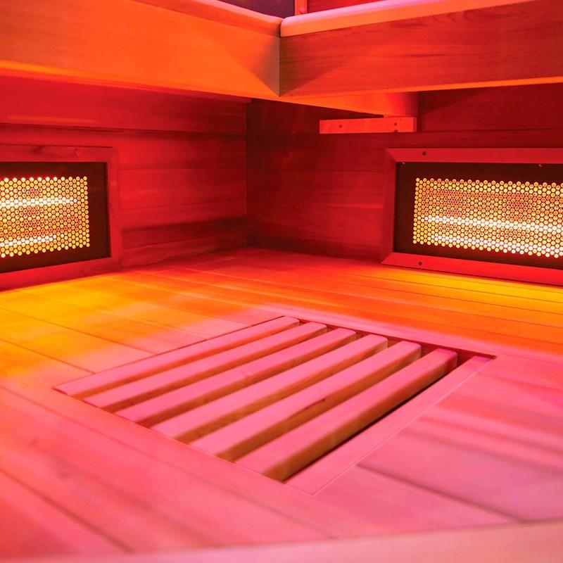 Interior Sauna infrarrojos Multiwave 3C
