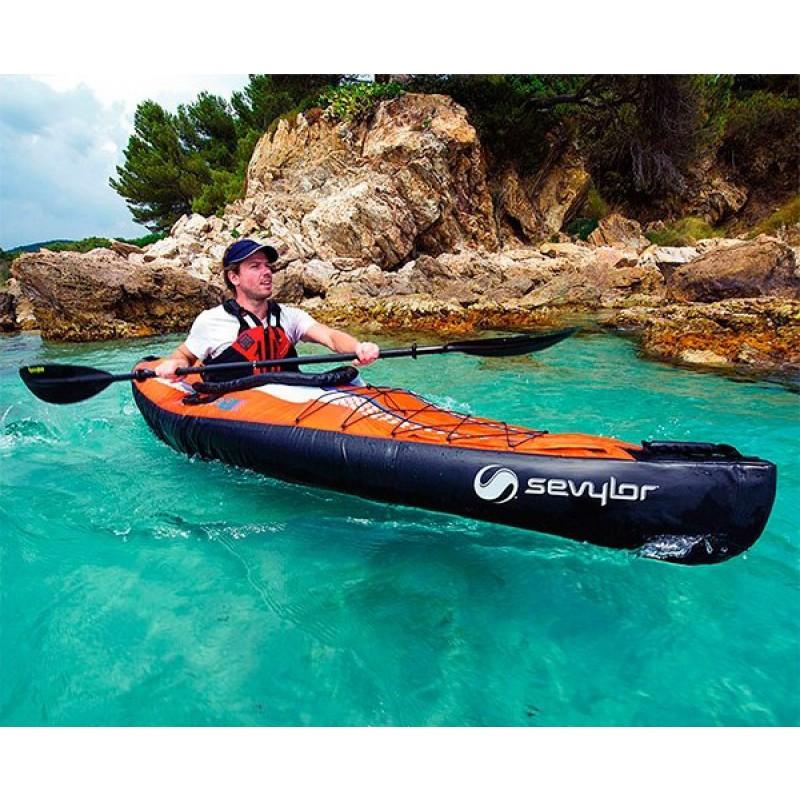 Kayak hinchable pointer k1 sevylor outlet piscinas for Piscina canoe