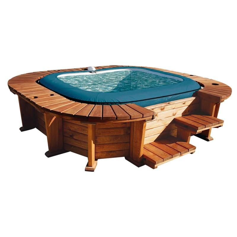 Spa Hinchable Bestway panelado madera Palm Beach